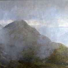 """""""Breaking mists on Mam na Gualainn"""" by Salmon Keith - Acrylic & pastel"""