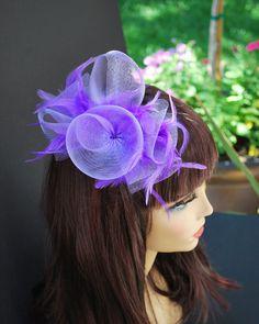 b46ae483692df Mardi Gras Hat Purple Fascinator Tea Party Hat by QueenSugarBee Mardi Gras  Hats