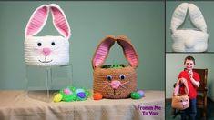 Treatsie the Bunny Basket - free Easter basket crochet pattern