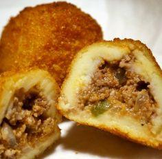 Delicious Cuban Potato Balls - Recipe, Beef, Appetizers, Crispy, Ethnic Food