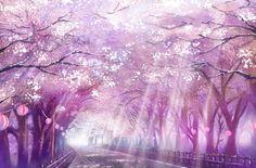 Kirschblütentanz im Frühling