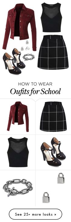 """""""High School"""" by rebellious-ingenue on Polyvore featuring Topshop, David Yurman, Marc by Marc Jacobs and Primrose"""