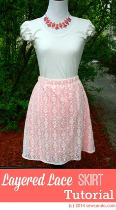 Sew Can Do:  DIY Pattern Crochet Lace Layered Skirt.  Easy to customize it to your own size and length.  No pattern required!