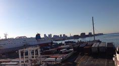 神戸港、出港!