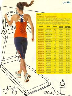 45 minute treadmill trainer - these are awesome, and high-intensity intervals are becoming a standard in the fitness world for burning fat fast and enhancing cardiovascular fitness. Trying this next time I'm at the gym!