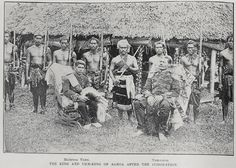 The King and Vice-King of Samoa after the Coronation. April 21 1899.