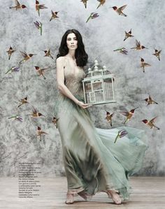 Marica Pellegrinelli by Giovanni Gastel for Amica (February 2013).