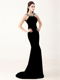 Glamorous Floor Length Beaded With Deep Open Back Prom Dress PD2897