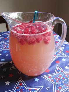 Summer Punch: 2 Bottles of Moscato, 1 can of pink lemonade concentrate, 3 cups of Sprite and a box of raspberries. ---- I was a little skeptical because I had seen this all over Pinterest, but we served this pitcher at a party and it was a hit, it's sweet, but a little tart and the alcohol taste is gone. I will be making this again and again.