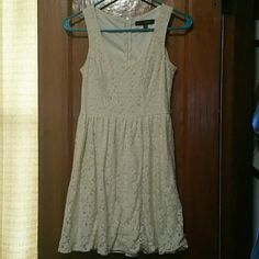 Ivory Lace Dress Beautiful! I don't wear enough of my dresses, getting rid of.  Size xs. Fits a small Ivory Lace, zipper back No flaws. HeartSoul Dresses Mini