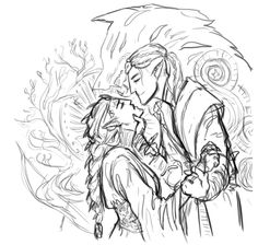 cytosinesketch:  I was just doodling. Still some things to work out, but eh. My sister sootteais wholly responsible for my descent into dragon age hell.