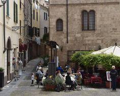Al Fresco Dining Old Town Alghero, Sardinia Italy