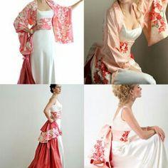 Vestidos Con Toques Orientales More Information Anese Kimono Style Wedding Dresses