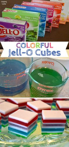 DIY Rainbow Jell-O Cubes - Mommy Scene