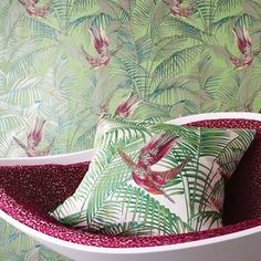 Matthew Williamson wallpaper & fabric available at Walnut Wallpaper!