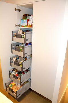 Mobila de Bucatarie MDF Alb Mat NCS-S1000N Coloana cu cinci sertare independente Amortizare BLUM Lockers, Locker Storage, Minimalism, Bookcase, Shelves, Cabinet, Furniture, Home Decor, Houses