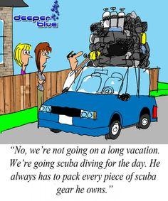 [CARTOON] We're Going Scuba Diving For The Day - DeeperBlue.com