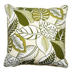 Green Nicole Throw Pillow