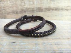 Men's Leather Bracelet, Men's Bracelets, Leather Bracelets, Men's Jewelry, Gifts for Dad, Groomsmen Gifts, Gifts for Him, Handmade Jewelry