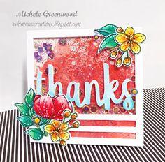 #shakercard #thanks #reverseconfetti #sss #simonsaysstamp #evenmorespringflowers #flowers #shimmer #perfectpearls