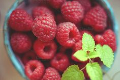 Macro raspberries by Cozy Home Store on Creative Market