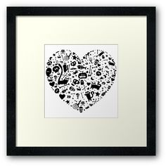 'Halloween Heart' Framed Print by Adrian Serghie Canvas Prints, Framed Prints, Art Prints, Duvet Covers, Greeting Cards, Halloween, Heart, Art Impressions, Photo Canvas Prints