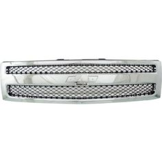 2007-2013 Chevy Silverado 1500 Grille, Black/Chrome