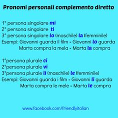 The Difference Between Direct And Indirect Pronouns In Italian - Итальянский обучающая статья - italki