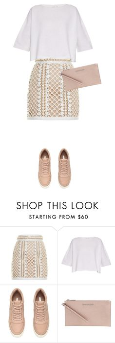 """""""Untitled #493"""" by isabellakongerskov ❤ liked on Polyvore featuring Balmain, Helmut Lang and MICHAEL Michael Kors"""
