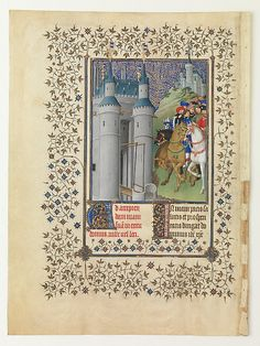 "Herman, Paul, and Jean de Limbourg (Franco-Netherlandish, active France, by 1399–1416). The Belles Heures of Jean de France, Duc de Berry, 1405–1408/1409. The Metropolitan Museum of Art, New York. The Cloisters Collection, 1954 (54.1.1a, b) | Completed by 1408 or 1409, probably in Paris, ""The Belles Heures,"" a private devotional book, was the first of several sumptuous manuscripts commissioned by the duke of Berry from the Limbourg brothers, Pol, Jean, and Herman. #Cloisters"