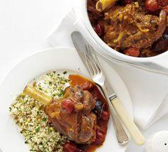 Lamb shank tagine recipe - Recipes - BBC Good Food