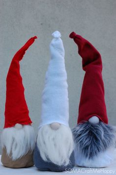 Scandinavian Elfs , Santa, Gnome. I want to make some of these.