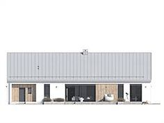 Elewacja tylna projektu Jemioła 2 House Plans 2 Story, Prefab, Barn, Exterior, Outdoor Decor, Modern, Room, Houses, Home Decor