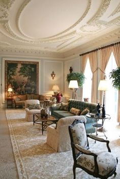Edith Wharton's drawing room decorated by Charlotte Moss at The Mount (Edith Wharton's Lenox MA Estate)