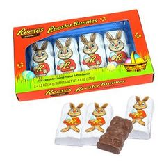 There a 4 wrapped peanut butter bunnies per box. Reese Peanut Butter Eggs, Peanut Butter Filling, Homemade Peanut Butter, Peanut Butter Cookies, Easter Candy, Easter Treats, Chocolate Candy Brands, Candy Companies, Fun Activities To Do