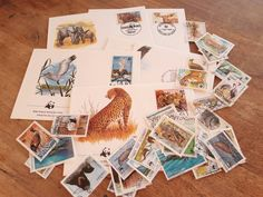 Excited to share the latest addition to my #etsy shop: 50 WWF Animal Postage Stamps + 5 First Day Covers. World Wildlife Fund. http://etsy.me/2CBpGPH #vintage #collectibles #birthday #postage #stamps #decoupage #scrapbooking #papercrafts #usedstamps