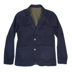 Sea Washed Navy Twill Telegraph Jacket - featured image