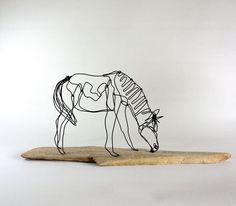 Horse Wire Sculpture Sculpture - Bud Bullivant