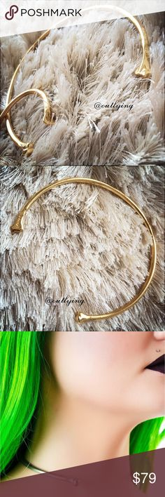 ANITAK Love Me Bone Choker Gold Anita K Love Me Bone Choker, Retail Price: $105, Gold, This choker is a throwback to all the bones in yer bod and bends so you can make it as tight or as loose as you want! Now all you gotta do is slip this bad boy on and watch all those hunniez take notice! AnitaK Jewelry Necklaces