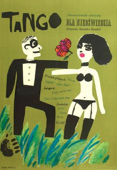 Polish Poster by Maria Ihnatowicz (Mucha), 1967, Tango directed by S. Barabas (CS).
