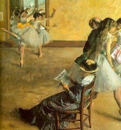 Edgar Degas, Ballet Class 1881, oil on canvas, Philadelphia Museum of Art