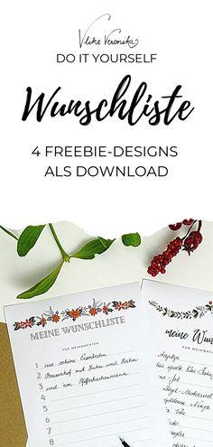 Schreib jetzt Deine Weihnachtswunschliste, damit Du genau das bekommst, was Du Dir wünscht. Die Vorlagen kannst Du Dir kostenlos auf VlikeVeronika.com herunterladen.
