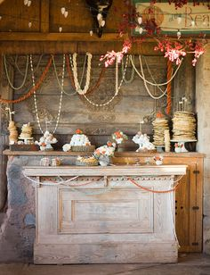 Winter Wedding Ideas: Snowed In. Pancake/Crepe bar in place of a dessert bar! DIBS on this idea!