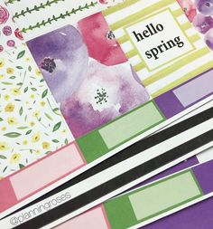 """Any Kate Spade fans out there? These colours and patterns are seriously so perfect!  This is the """"Spring Spade Kit"""" and it will be available on Sunday! Also comment down below what kit you want to see a mock PWM on tomorrow in the New Release video! Any of the 3 new weekly kits or the April monthly kit? #planningroses #modernplanning #planner #planneraddict #plannernerd #plannergeek #plannergirl #plannergoodies #plannerlife #plannerlove #plannerobsessed #plannerobsession #plannershop…"""