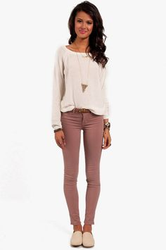comfy casual. want these jeans!