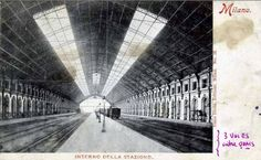 Milan old central station - View of the roof Central Station, Vintage Photos, Louvre, Urban, Explore, Black And White, History, Building, Homes
