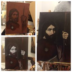 Oil painting process, by Maximos M D C #oil #painting #art #classic #creation #colour #underpainting #sketch