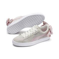 Puma Suede Bow Hexamesh Women's Sneakers Women, Size: Marshmallow-Pale Pink Puma Tennis, Bow Sneakers, Sneakers Women, Pink Pumas, Sneaker Outfits Women, Buy Shoes Online, Puma Suede, Pink Shoes, Women's Shoes