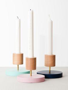 Beech candlestick