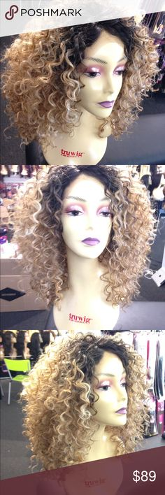 Big hair don't care ombré Lacefront New Wig blonde #Lacefront swisslacefront wig black roots hone blonde super curly beautiful Lacefront high Quality heat resistant adjustable cap Wig I do have in many colors Accessories Hair Accessories